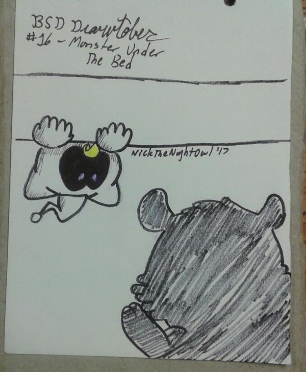BSD Drawtober Day 16 - Monster Under The Bed by NickTheNightOwl