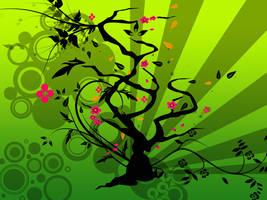 vektor love tree by butterfly17