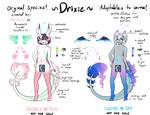 Original Species: Drixie Ref by Koyakyuun