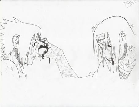 Sasuke e Itachi.