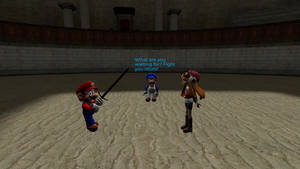 Smg4: Mario and Meggy don't want to fight!