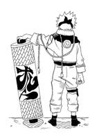Naruto with scroll by 93sign