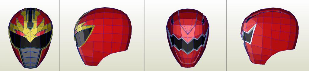 casco power ranger pepakura by joedme4