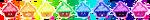 rainbow cupcakes by binibag