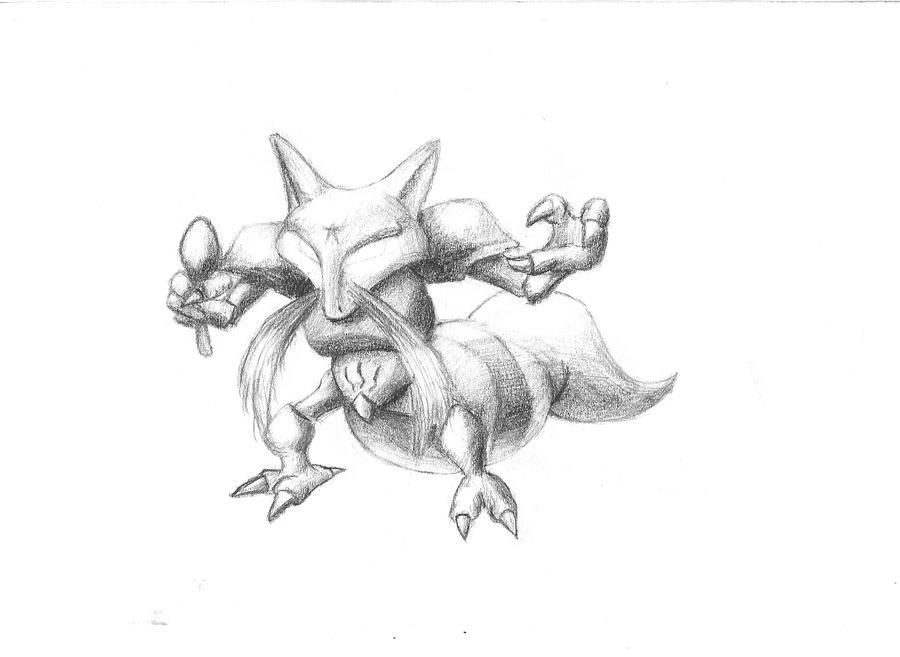 Realistic Kadabra Kadabra Sketch by Duff5107