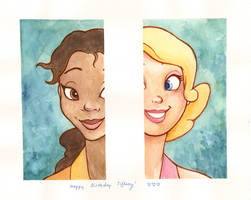 Tiana and Charlotte by puchiko2