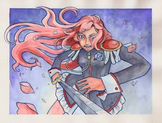 Utena stabbing a flower by puchiko2