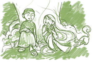 A moment in the forest by puchiko2