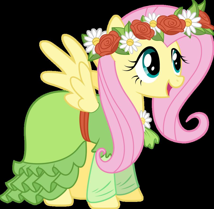 Fluttershy in her dress by TechRainbow