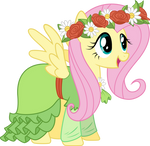 Fluttershy in her dress