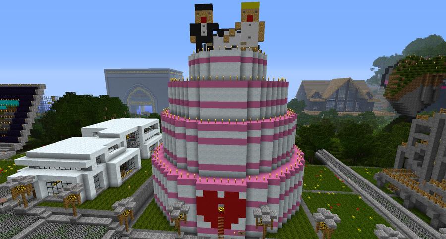 Pixel Art Wedding Cake : Minecraft Digital Cake Ideas and Designs