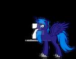 Somber Blues Alicorn