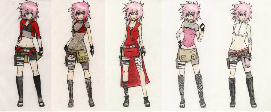 sakura outfits by Stray-Ink92 on DeviantArt