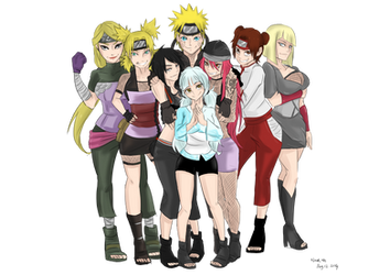 Paypal Commission: Naruto's Harem by Stray-Ink92