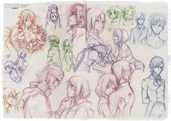 Sasusaku- Sketch by Stray-Ink92