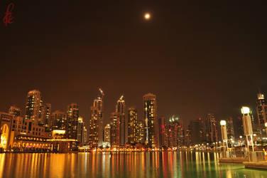 City Under Moon Light by faizan47
