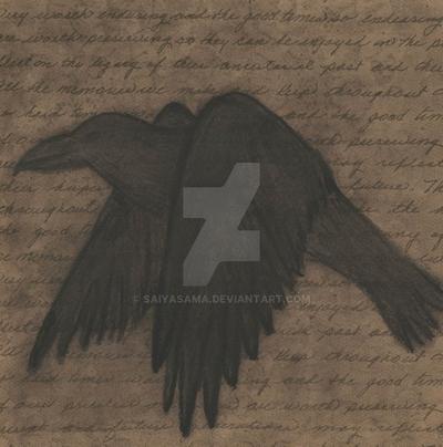 Raven text by Saiyasama