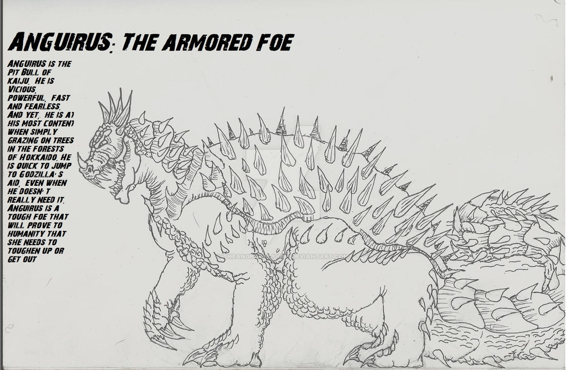 Anguirus:Revenge of monsters by TheAngryKaijuGuy
