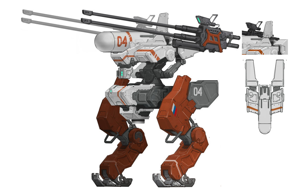 Russian anti-aircraft mecha