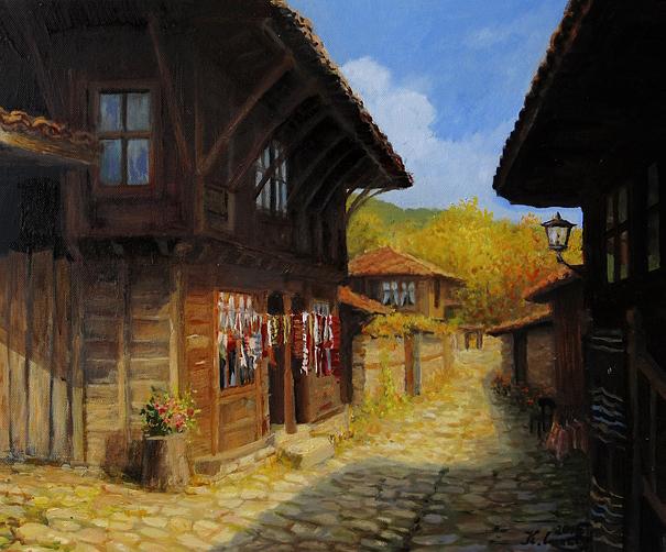 Zheravna in The Autumn by kirilart