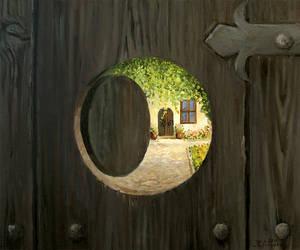 At the Doorstep by kirilart