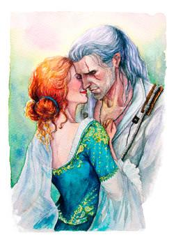 Geralt and Triss