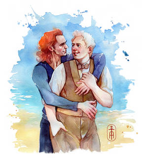 Ineffable Husbands at the beach
