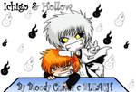 Ichigo+His Hollow...chibis