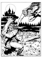 The monster of Frankenstein vs Bizarro. by Jagoba
