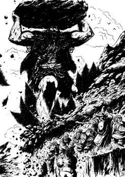 Bilbo y el encuentro con los gigantes de piedra