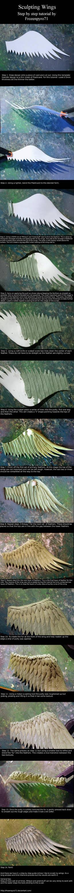 Sculpting wings tutorial