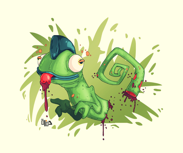 Victim No.1 (chameleon) by Hamzeh-Kalimat