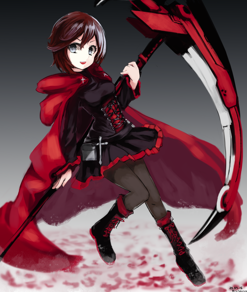 Ruby in clothes with more folds than an origami accordion ...  |Ruby Red Fan Art