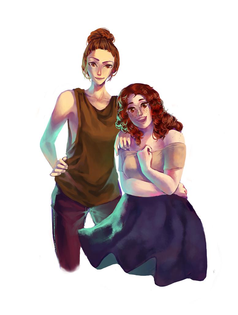 C: Aviva + Delilah by crystal-infinity