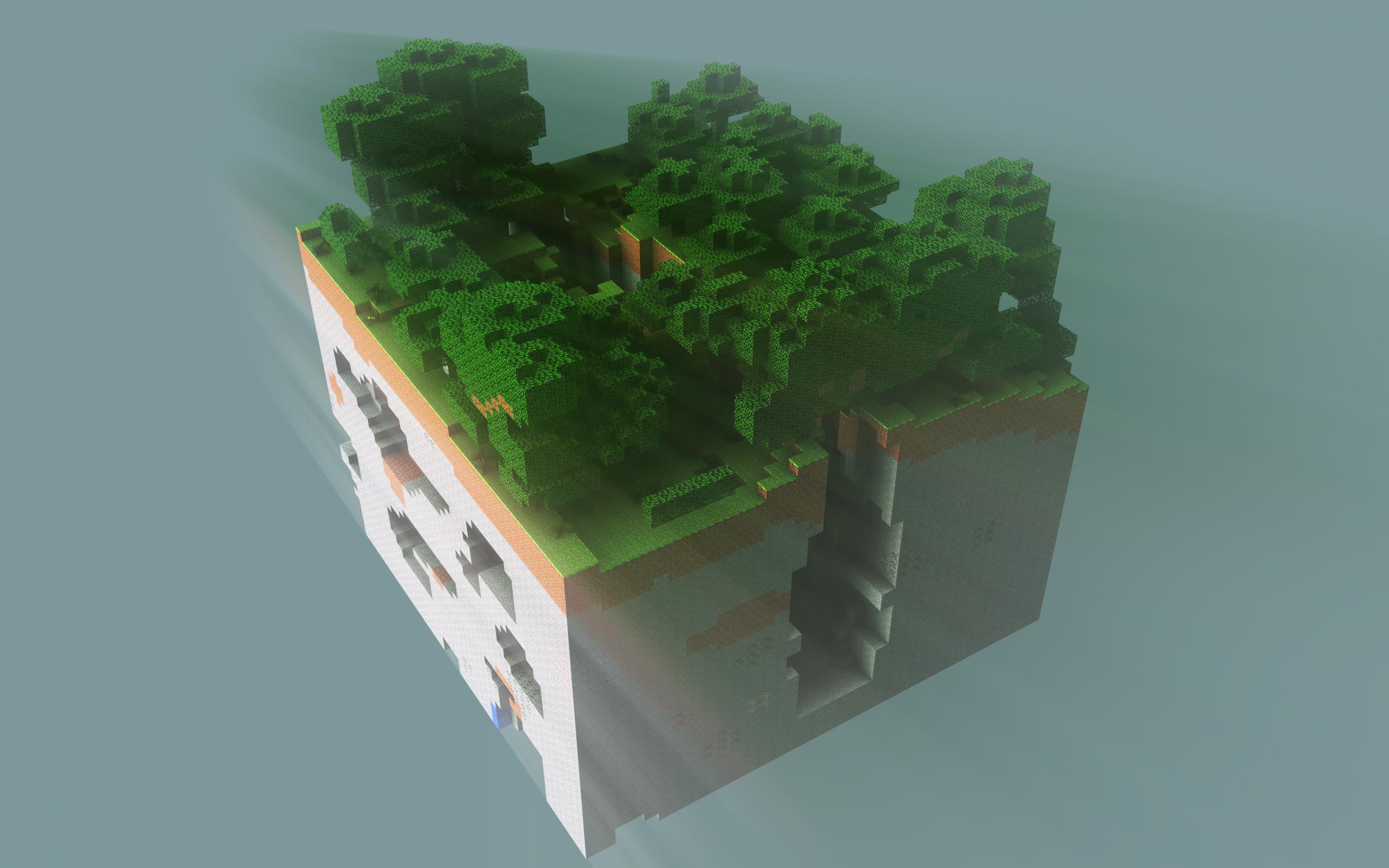 Minecraft Chunk Redone in Photoshop