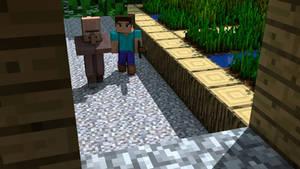Steve in a Village