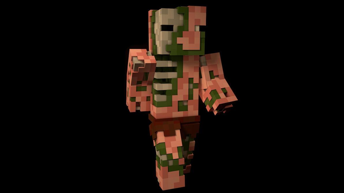 Zombie Pigmen Render By Wutane On Deviantart