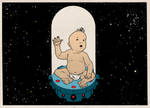 Space Baby by kylebice