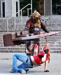 Claire Redfield vs Axeman