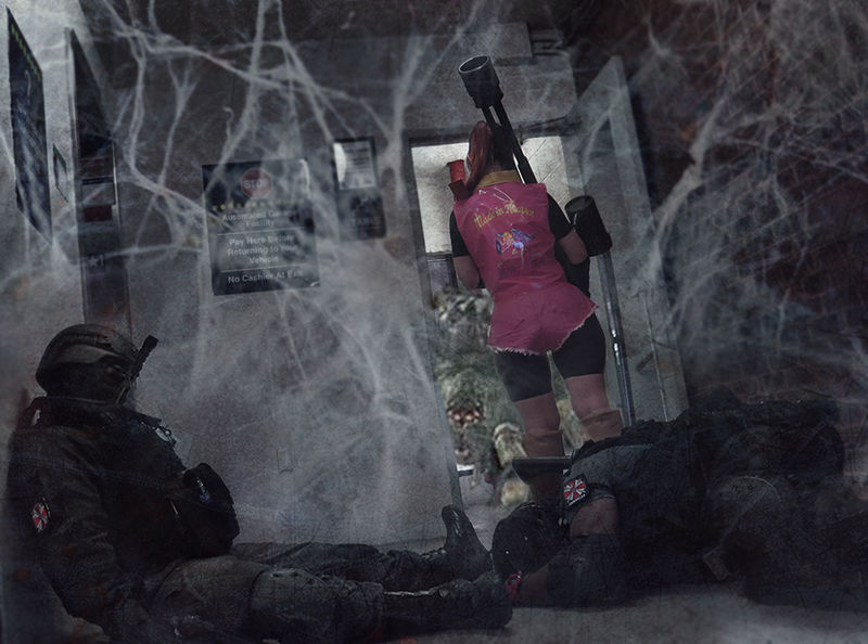 Claire Redfield   Resident Evil   Danger Lurking by HopeHavoc