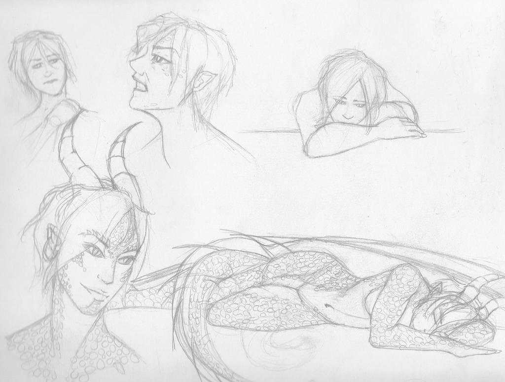 Sketches #1 by Styxxsardonyx