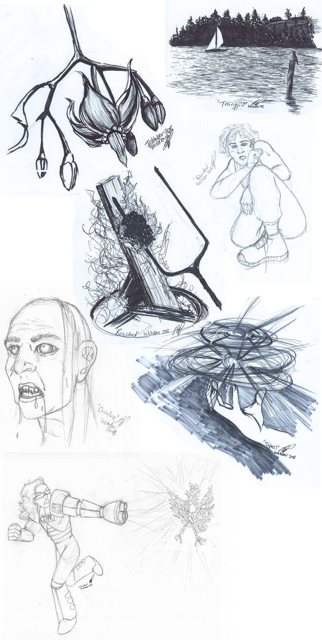 Inktober 2018 Sketch Dump #1 by Styxxsardonyx