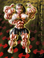 Double Bicep Flex by Drawington