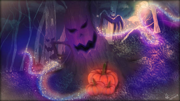 Halloween background for The ninja RPG