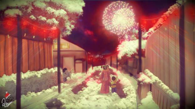 Winter background for TNR