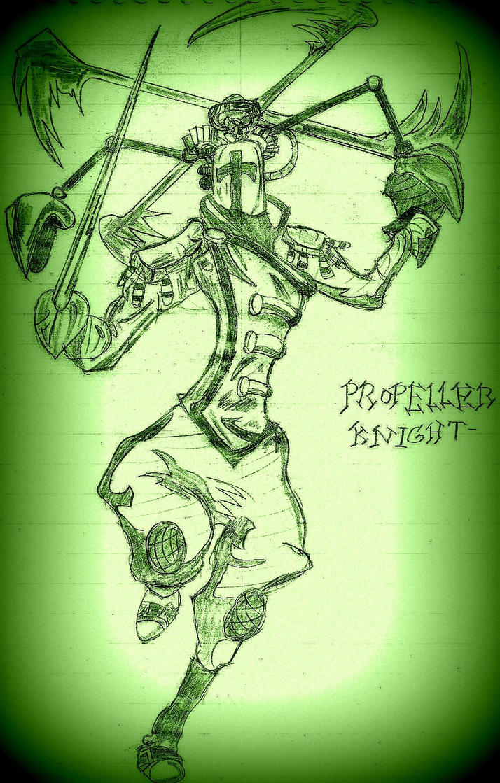 Propeller knight (Shovel knight doodle) by Joker2u