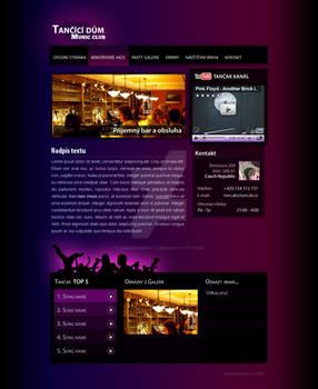 Tancak music club - webdesign