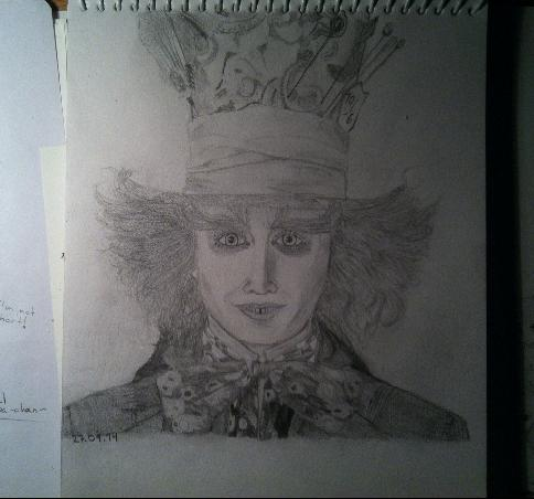 Johnny Depp as The Mad Hatter by chokaChokapunPun