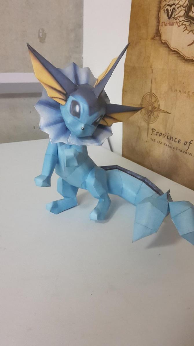 Vaporeon Papercraft by hero2b