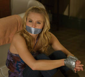 Kristen Bell Tape Bound and Gagged